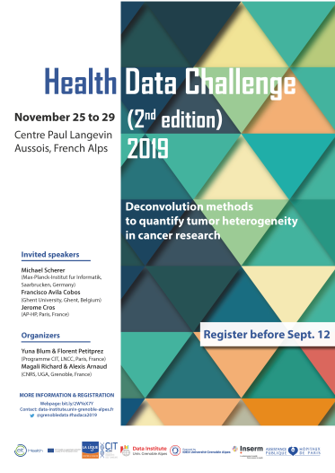Affiche Health Data Challenge 2nd Edition Sept12